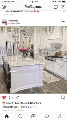 30 White Kitchen Design İdeas Modern Photos Page 9 30 White. - 30 White Kitchen Design İdeas Modern Photos Page 9 30 White Kitchen Design İd - Home Decor Kitchen, Kitchen And Bath, Kitchen Dining, Wood Floors In Kitchen, White Kitchen Decor, Kitchen Sinks, White Kitchen Chairs, Rustic Floors, Kitchen Walls