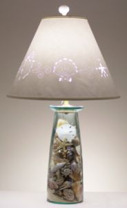 DIY Shell Lamp - this is a tutorial for the lamp base.  The shade is another matter; and the pierced design technique has become a dying art.