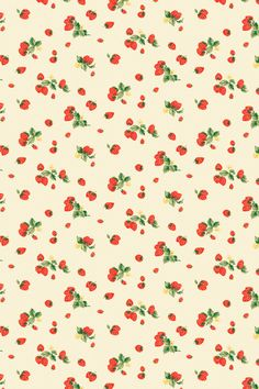 Small strawberry background wallpaper ~