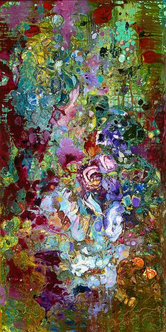 """This is a 6"""" x 12"""" print on 11"""" x 14"""" Fine Art Paper from the original """"Wildflowers"""" oil painting by Tracey Chikos."""
