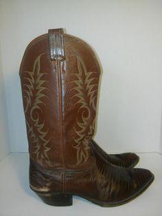 Nocona Leather Boots // Vintage Nocona by ATELIERVINTAGESHOP
