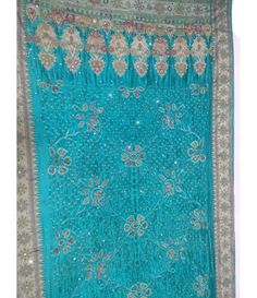 Blue Georgette Banarasi Bandhani Saree