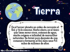 SISTEMA SOLAR para niños de Primaria (5) - Imagenes Educativas Curriculum, Homeschool, Montessori Activities, Social Science, Learning Spanish, Science And Nature, Solar System, Social Studies, Universe