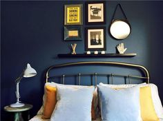Stiffkey blue by Farrow & Ball Blue Rooms, Farrow And Ball Bedroom, Bedroom Decor, Drawing Room Blue, Eclectic Bedroom, Bedroom Inspirations, Home Bedroom, Home Decor, Room