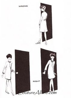 Couture Allure Vintage Fashion: How to Enter and Leave a Room Like a Lady - 1968