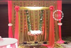 Amazing cradle ceremony decoration ideas for all your events. images for cradle decoration for naming ceremony from Quotemykaam catalogue. Naming Ceremony Decoration, Wedding Stage Decorations, Baby Shower Decorations For Boys, Backdrop Decorations, Balloon Decorations, Birthday Party Decorations, Baby Shower Themes, Flower Decorations, Backdrops