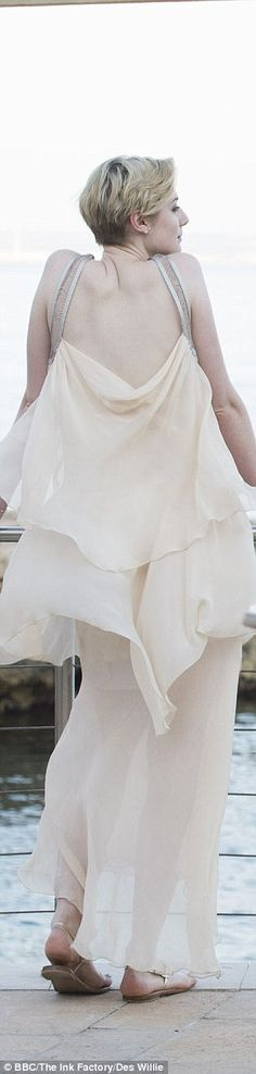 The floaty vintage dress Jed wore in episode four also encapsulates a timeless Grecian sty...