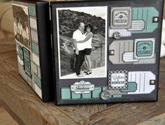 Home déco-Cathy: le dos Mini Albums Scrapbook, Scrapbook Sketches, Scrapbook Pages, Tampons, Home And Deco, Scrapbooks, Book Art, Paper Crafts, Blog