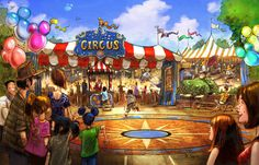 Storybook Circus - New Home To Dumbo The Flying Elephant