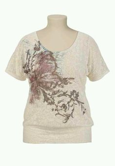 burnout butterfly studded tee size 3 maurcies.com