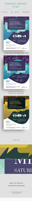 #Town #Hall #Meeting Flyer - Corporate Brochures