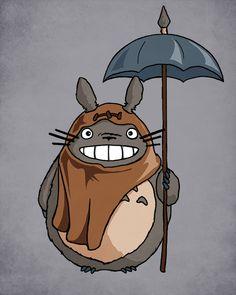 """Totowok"" by on Redbubble! Mei Totoro, Studio Ghibli Characters, Bleu Royal, Disney Crossovers, Ewok, My Neighbor Totoro, Hayao Miyazaki, Disney Fan Art, Bleu Marine"
