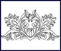 Digital Quilting Design Tooled Leather Motif 2 by JoAnn Hoffman.