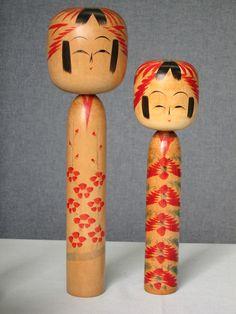 Sato Mamoru 佐藤護 (1903-1979), Master Sato Toraji, left 36.1 cm, 1958; right 30 cm, 1957 | 1958 is said to be the peak period of Sato Mamoru