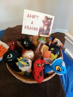 How to train your dragon birthday party. Party favor/ treat bag ideas. Adopt a dragon!