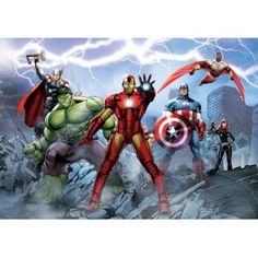 Marvel Avengers Wall Mural X Iron Man Thor Hulk Captain America for sale online The Avengers, Avengers Poster, Marvel Avengers Assemble, Marvel Defenders, Photo Wallpaper, Wall Wallpaper, Marvel Wall Art, Marvel Gifts, Die Rächer