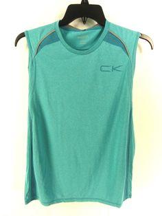 CALVIN KLEIN NEW MENS $40.00 BLUE ATHLETIC SHIRT MUSCLE T-SHIRT M #CalvinKlein #BasicTee