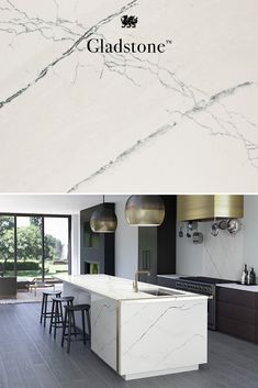 Browse our vast design palette to see how Cambria natural quartz countertops can add innovative style to any space. See our 20 brand new quartz designs. Condo Kitchen, Home Decor Kitchen, Kitchen And Bath, Home Kitchens, Kitchen Remodel, Kitchen Ideas, Luxury Kitchen Design, Modern House Design, Interior Design Kitchen