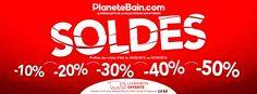 Soldes d'été jusqu'à -50% sur PlaneteBain.com