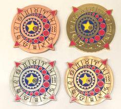 Zodiac-clock-set-of-four-Steampunk-style-geocoins