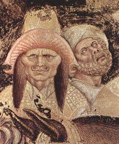Pisanello - Ritratti, dettaglio San Giorgio e la principessa  - affresco staccato - 1436-1438 - Chiesa di Sant'Anastasia, Verona