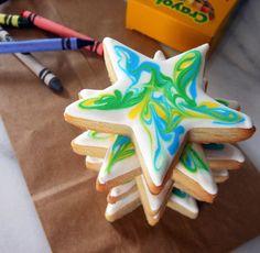 My Cookie Clinic: TIE DYE STAR COOKIES/ Goodbye Kindergarten