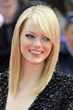Emma Stone's hair at the Spider-Man premiere