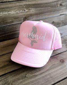 Mermaid Trucker Hat - Pink