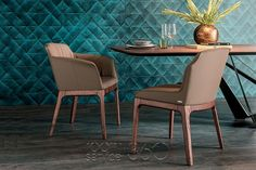 Musa Dining Side and Arm Chair by Cattelan Italia