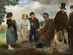 """Edouard Manet, """"The Old Musician"""" 1862 at NGA in D.C."""