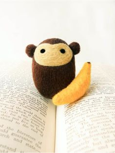 Needle-felted Morton the Monkey, by *brynne
