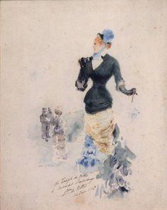 Signora con binocolo (Giuseppe De Nittis, c. 1867, Musei Civici, Pavia)