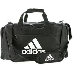 adidas Defender III Medium Duffel Black Bags ($40) ❤ liked on Polyvore featuring bags, luggage and black