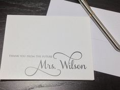 Personalized Thank You Notes Wedding Set Of 12 Folded Stationery