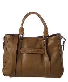 LONGCHAMP Longchamp 3D Matte Calfskin Tote'. #longchamp #bags #shoulder bags #hand bags #leather #tote #lining #
