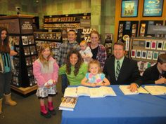 The children visit the Duggars to have their book signed, share their service projects, and meet the family.