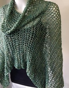 """Collette - Crochet poncho pattern by Jenny King on Ravelry Crocheted in a hand painted rayon colour way """"Leprachaun"""" from the USA """"Unique Yarns"""""""