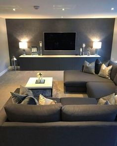 54 The best interior design for the living room that you have in your home . - Wonderful Home Design and Project Living Room Decor Cozy, Living Room Grey, Living Room Modern, Living Room Bedroom, Living Room Designs, Kitchen Living, Small Living, Apartment Interior Design, Best Interior Design