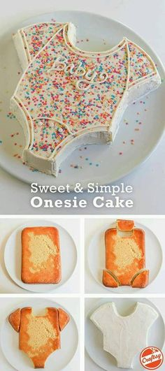 this super cute onsie cake for your baby shower celebration. (easy sweets f., Make this super cute onsie cake for your baby shower celebration. (easy sweets f., Make this super cute onsie cake for your baby shower celebration. (easy sweets f. Baby Cakes, Diaper Cakes, Cake For Baby, Mom Cake, Onesie Cake, Baby Onesie, Baby Shawer, Baby Born, Baby Shower Pasta