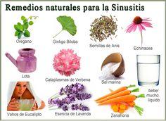 REMEDIOS NATURALES PARA TRATAR LA SINUSITIS. La sinusitis es una inflamación, y casi siempre una infección, de las cavidades oseas llenas de aire que...