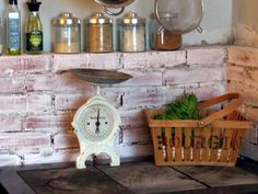 White-washed bricks in my kitchen Green Gables, Bricks, Kitchen, House, Cooking, Home, Brick, Kitchens, Cuisine
