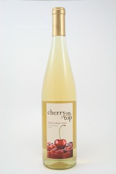 Cherry on Top sweet white wine -- a blend of Muscat, Riesling Gewurztraminer, Chenin Blanc and Viognier