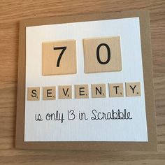 Scrabble Score Big Birthday Age Card