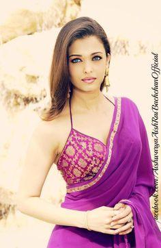 aishwarya rai purple saree sari indian dress