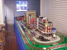 Amaxing LEGO train layout at the studio of LEGO Artist Dan Parker. I thought this Lego train set up was amazing! If you are ever near Freighthouse Square, stop by and see his work.
