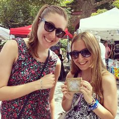 Lindsay @lindsaye95 and Colette so excited for their new #supergoodluck #bracelets they got from #maemaejewelry at the #nYAcKStreetFair... #lovethem #socute