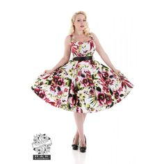 Hearts and Roses London Tropical Lily find it and other fashion trends. Online shopping for Hearts and Roses London clothing. Pretty, colourful and perfect. Plus Size Rockabilly, Rockabilly Clothing, Grease Outfits, H&r London, Retro Fashion 50s, Red Lily, Hearts And Roses, Rose Dress, Lily Dress