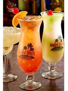 Hurricane: Pour 1 oz Bacardi Light Rum, 2 oz orange juice, 2 oz pineapple juice, 2 oz mango puree & ½ oz grenadine. Float 1 oz Disaronno Amaretto & 1 oz Bacardi Select Rum on top. Add orange and cherry for garnish.