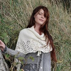 First shawl design of the year: Snow Moon! Available now on Revelry...