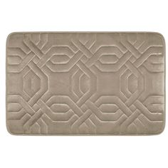 Bathroom Rugs Ideas | Bounce Comfort Chain Ring Extra Thick Premium Memory Foam Bath Mat with BounceComfort Technology 20 x 32 Linen * You can find more details by visiting the image link. Note:It is Affiliate Link to Amazon. #nature